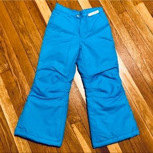 Faded Glory Girls 6/6x Blue ski/snow pants NWOT